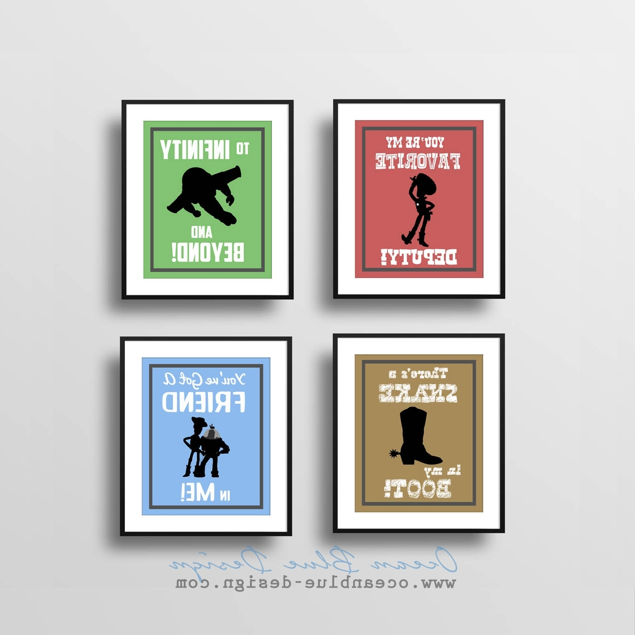 Most Up To Date Toy Story Wall Art Intended For Toy Story Prints – Set Of 4 – 8″x10″ Prints Child's Room Or (View 4 of 15)