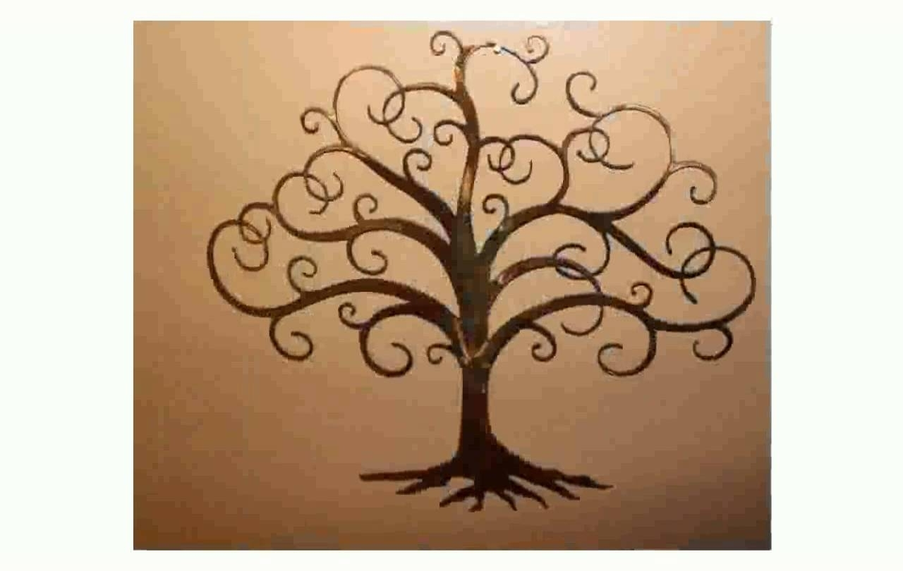Most Up To Date Tree Of Life Wall Art Stickers Within Tree Of Life Metal Wall Art – Youtube (View 6 of 15)