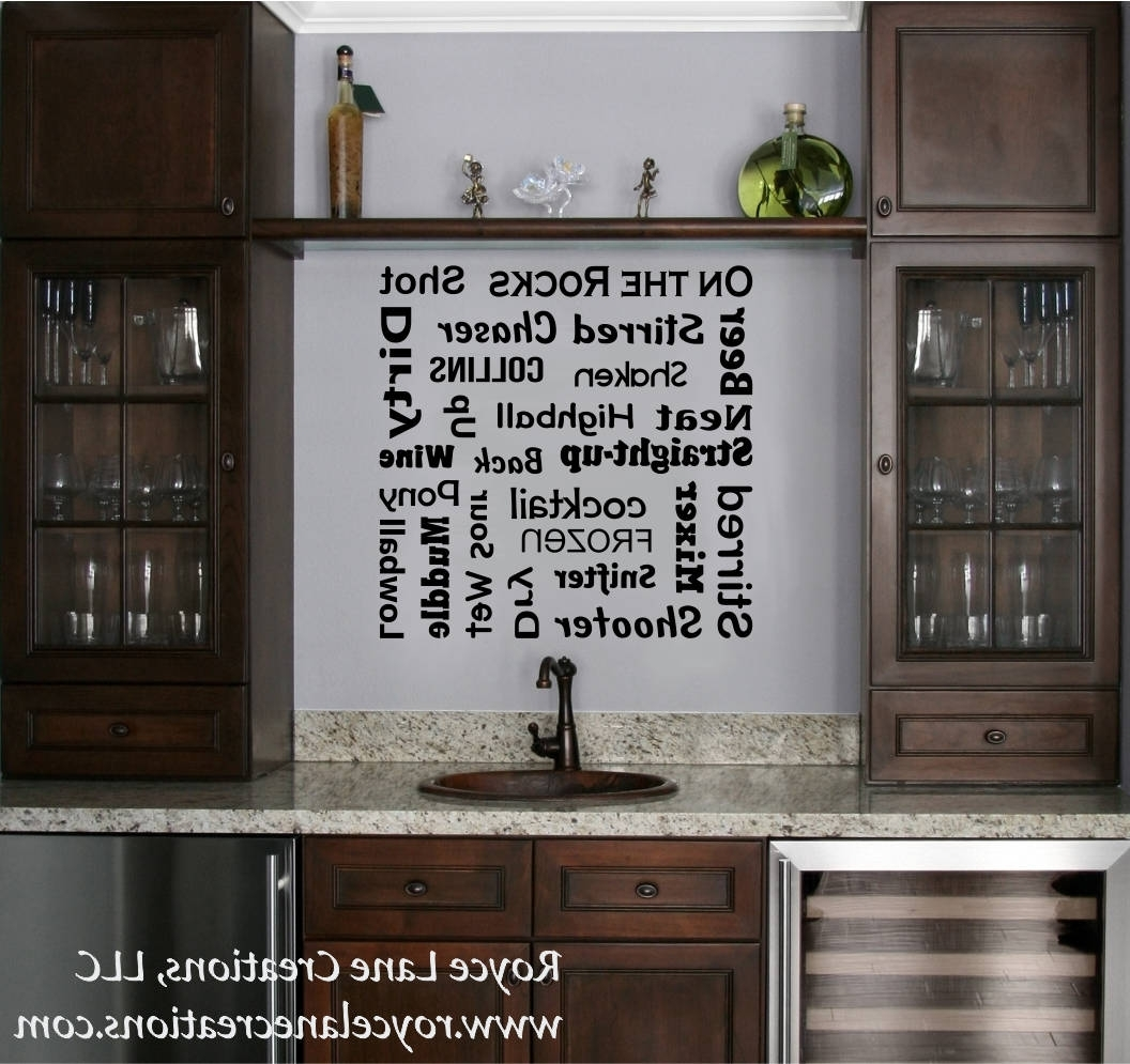 Most Up To Date Wall Art For Bar Area Inside Bar Decal – Bar Terminology Word Art Bar Lettering Bar Wall (View 8 of 15)
