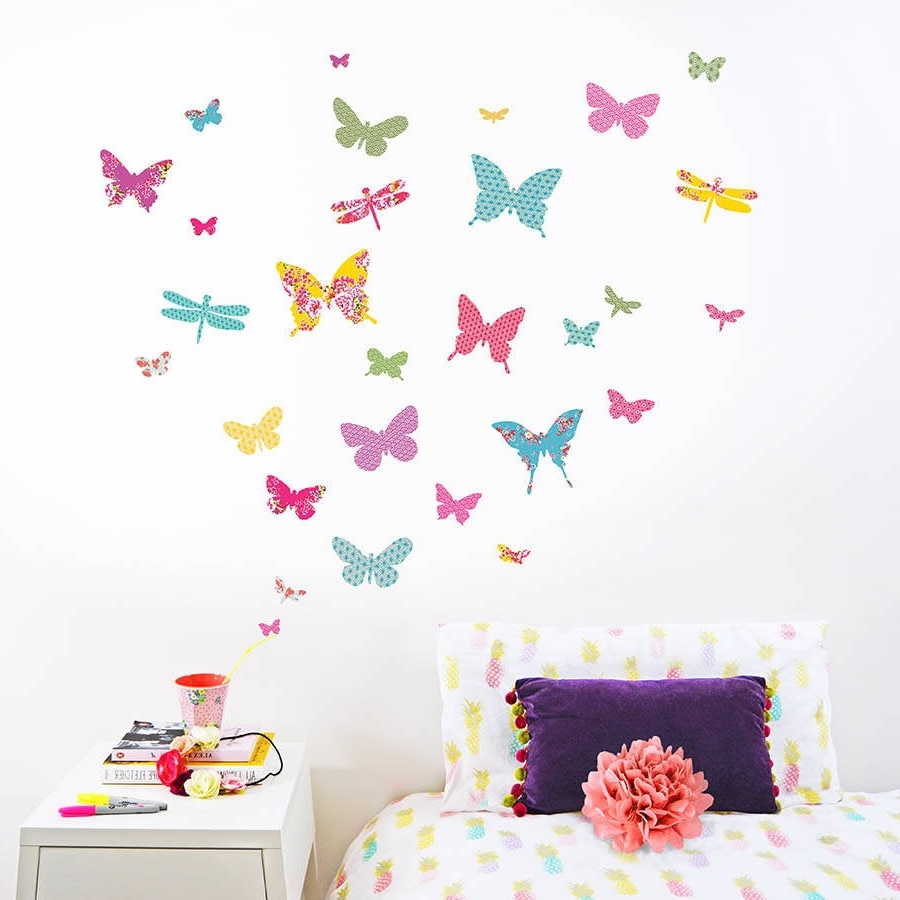 Most Up To Date Wall Art Stickers For Childrens Rooms Pertaining To Shanghai Butterfly Wall Stickerskoko Kids (View 6 of 15)