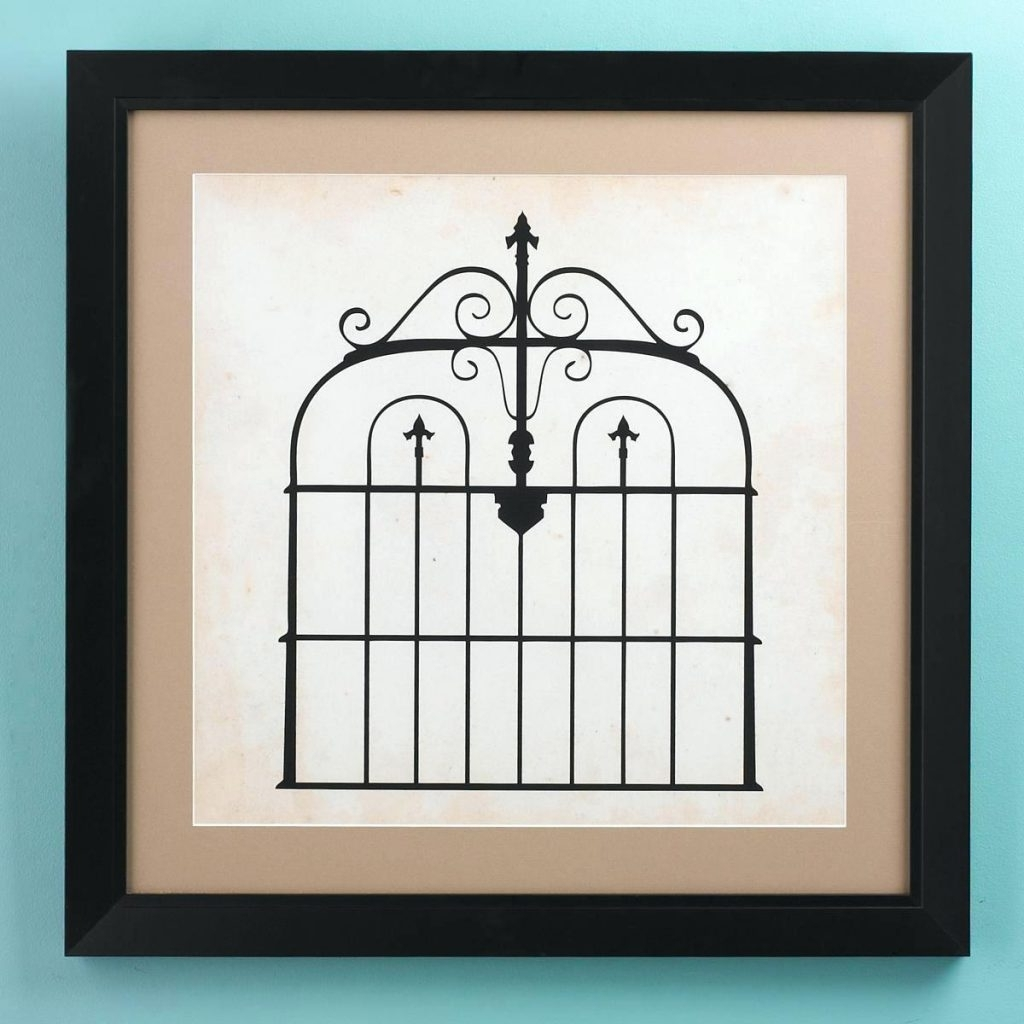 Most Up To Date Wall Arts ~ Garden Gate Metal Wall Art Iron Gate Wall Art 25x25 For Iron Gate Wall Art (View 8 of 15)
