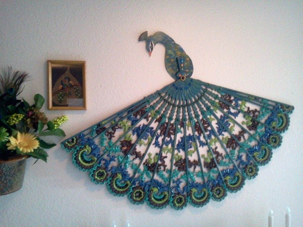 Most Up To Date Wall Arts ~ Garden Wall Art Peacock My Peacock Wall Art Peacock Intended For Jeweled Peacock Wall Art (View 9 of 15)