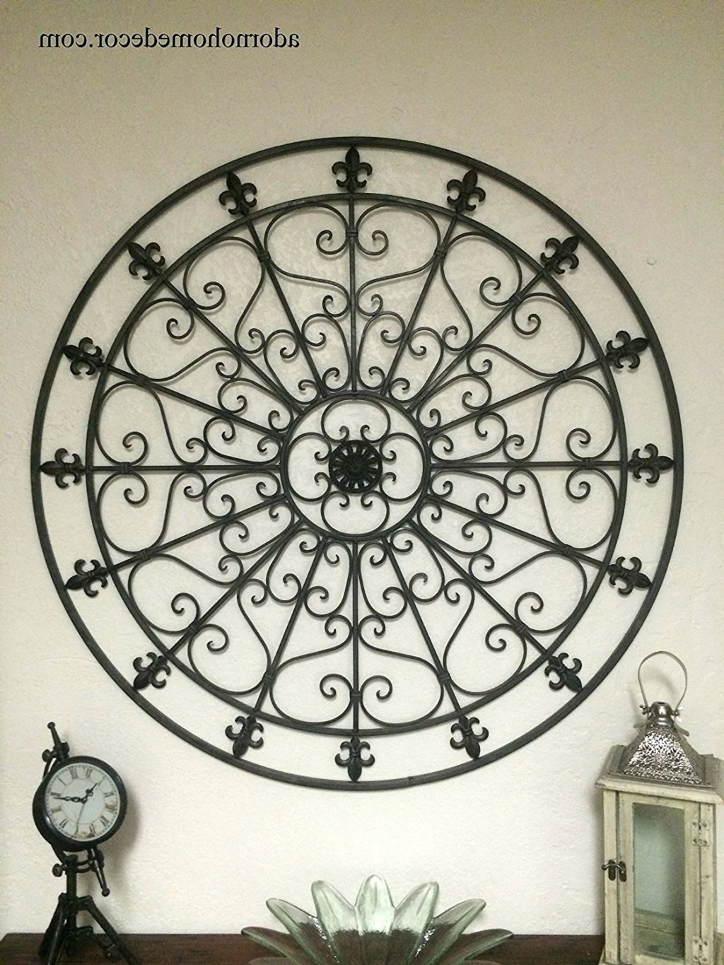 Most Up To Date Wall Arts ~ Metal Fleur De Lis Wall Art Tuscan Fleur De Lis Pertaining To Large Round Metal Wall Art (View 10 of 15)