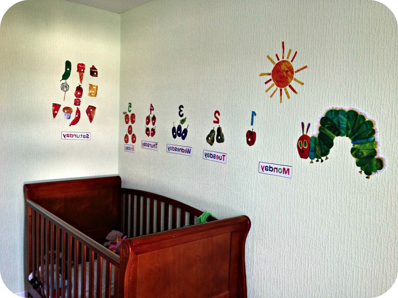 Most Up To Date Wall Decals: Beautiful Hungry Caterpillar Wall Decals (View 4 of 15)
