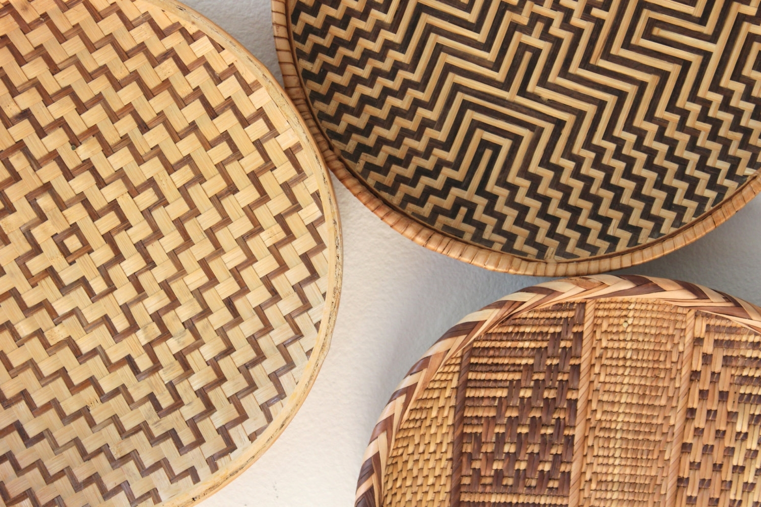 Most Up To Date Wicker Rattan Wall Art Within Bright And Modern Rattan Wall Decor With Vintage Round Basket (View 7 of 15)
