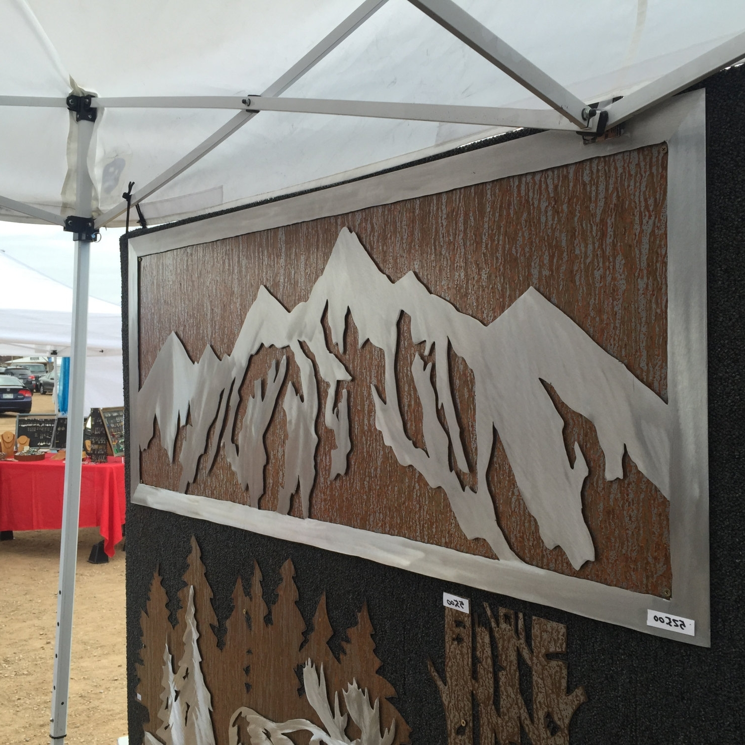 Mountain Decor. Metal Wall Art. Mountain Wall Mural (View 7 of 15)