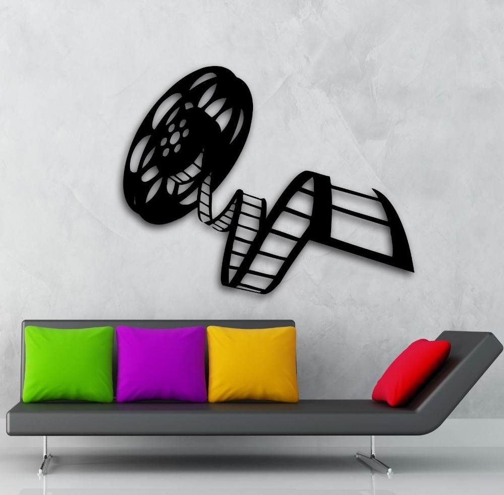 Movie Film Reel Of Film Cinema Film Decor For Living Room Mural Intended For Widely Used Movie Reel Wall Art (View 6 of 15)