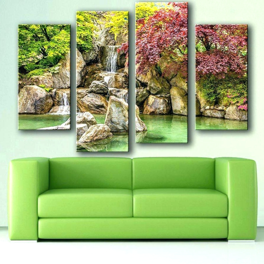 Moving Waterfall Wall Art With Regard To Most Current Wall Arts ~ Waterfall Motion Art For Sale On Ebay Youtube With (View 12 of 15)