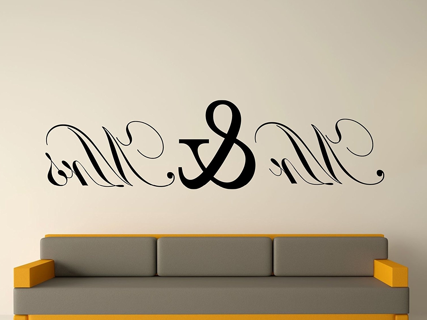 Mr And Mrs Wall Art Pertaining To Best And Newest Mr & Mrs Wall Art Sticker – Black, Large: Amazon.co (View 5 of 15)