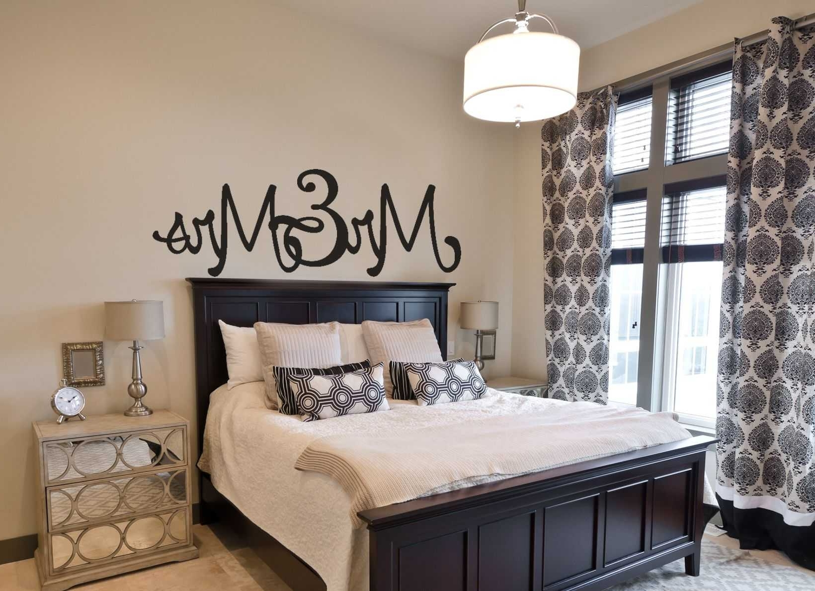 Mr And Mrs Wall Art With Regard To Famous Wall Art For Master Bedroom Inspirations And Outstanding Decor (View 8 of 15)