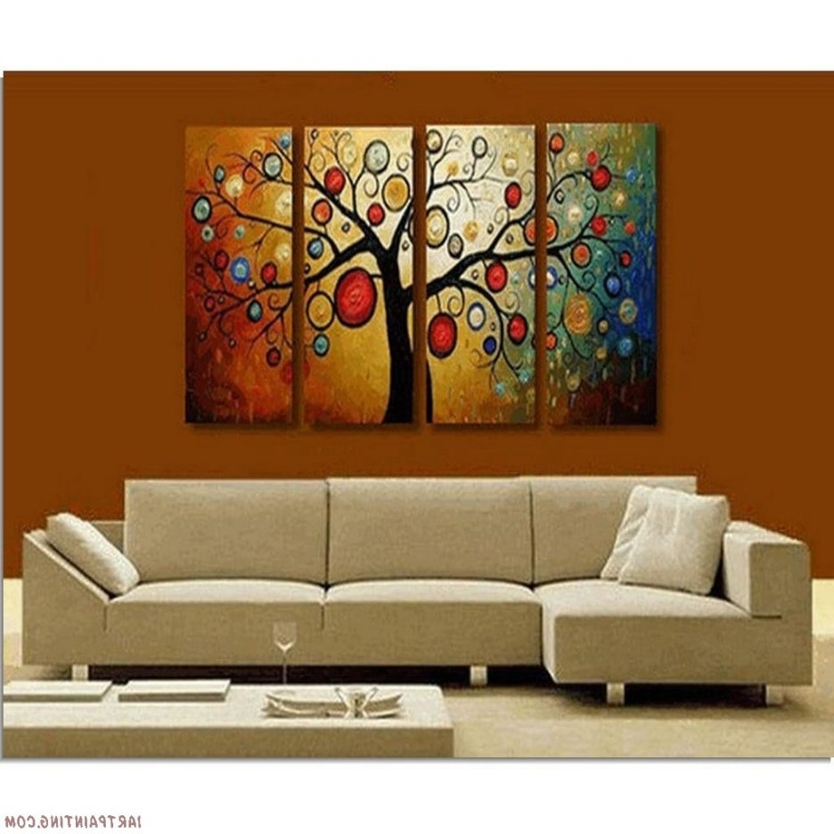 Multi Canvas Wall Art Inside Newest Canvas Wall Paintings Wall Art Sets For Living Room Living Room (View 14 of 15)