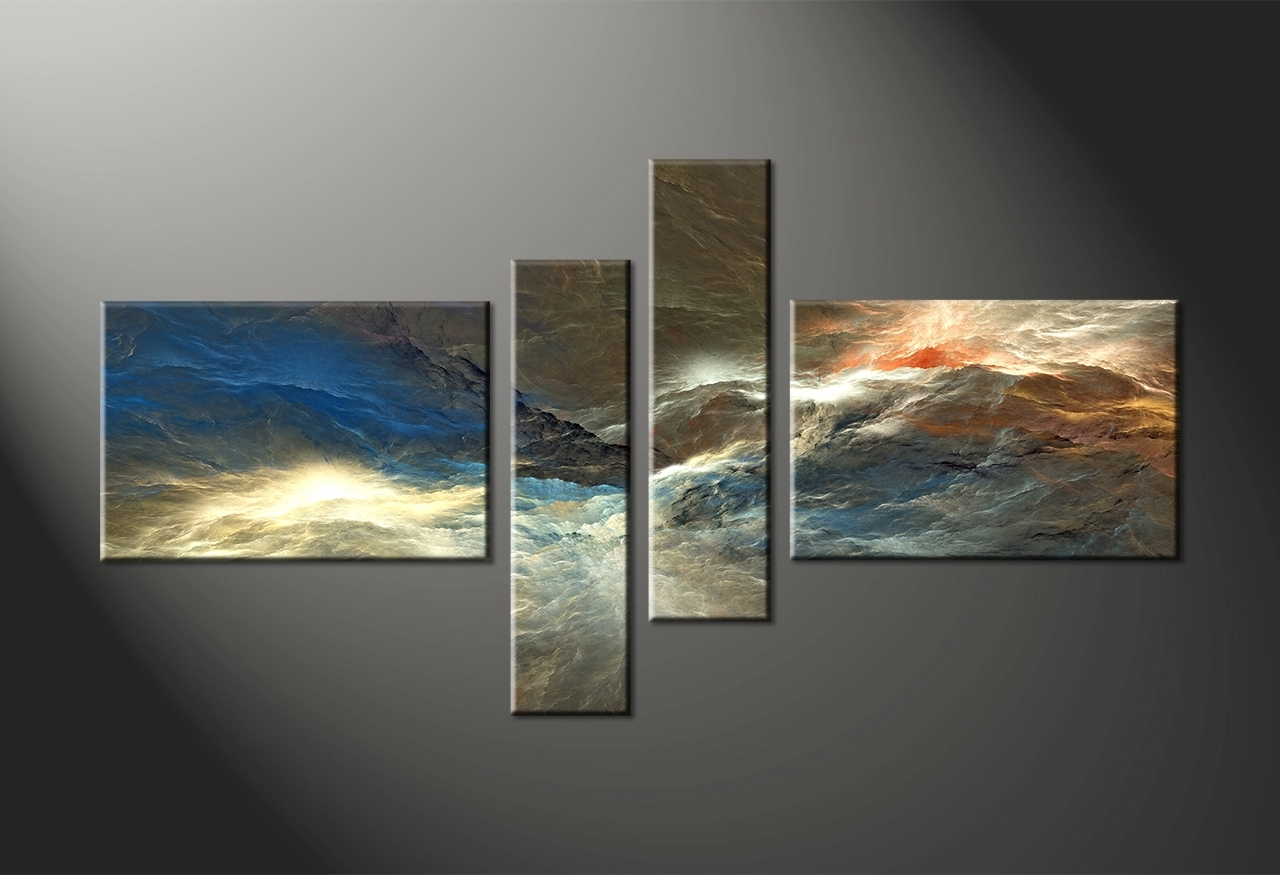 Multi Canvas Wall Art Inside Well Liked Amazoncom Huge Multi Panel Canvas Wall Art Modern Abstract Oil (View 9 of 15)