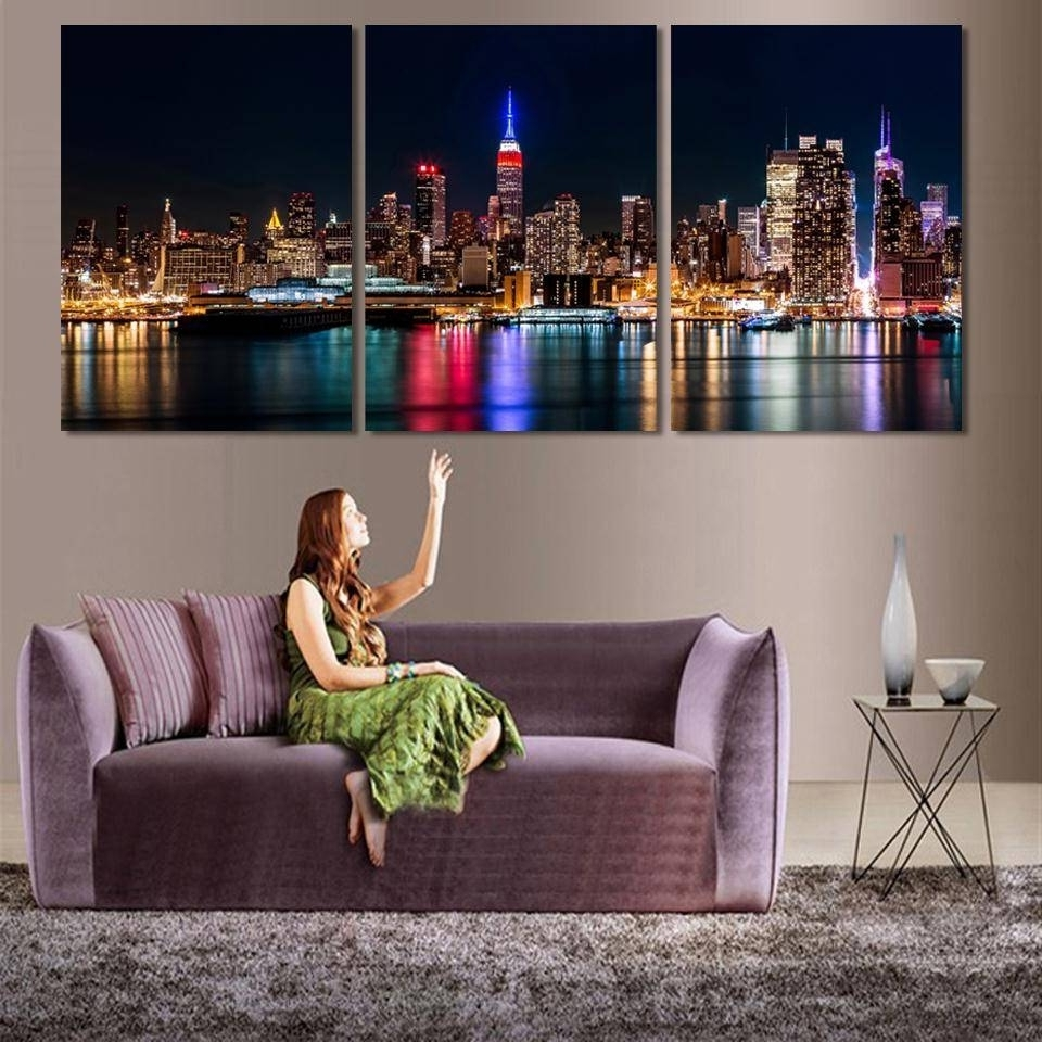 Multi Piece Canvas Wall Art For Current 3 Piece Wall Art Abstract Art For Sale Canvas Painting Wall Art (View 8 of 15)