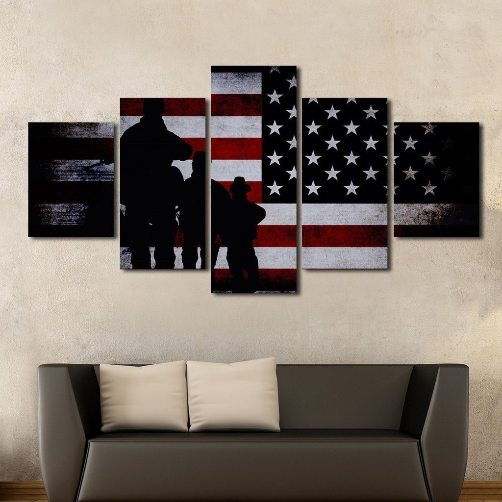 Multiple Panel Wall Art With Well Known Army Special Forces Patriotic Multi Panel Wall Art Canvas (Gallery 7 of 15)