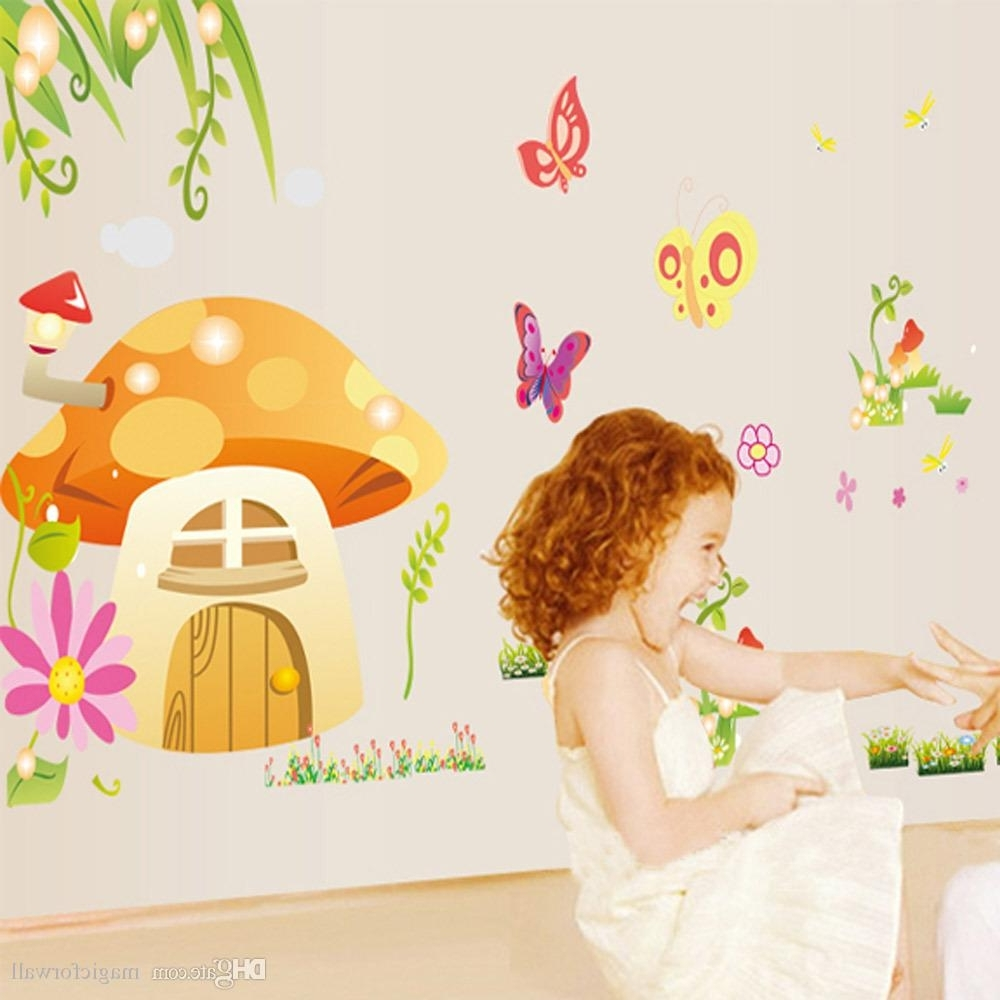 Mushroom Wall Art Intended For Well Known Kids&baby Room Nursery Cartoon Wall Decorative Decal Stickers (View 4 of 15)