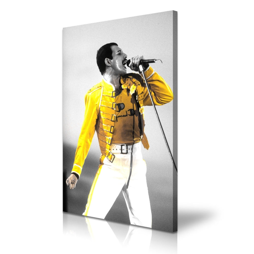 Music & Dance Freddie Mercury Queen Canvas Framed Print Wall Art Regarding Most Popular Freddie Mercury Wall Art (View 10 of 15)