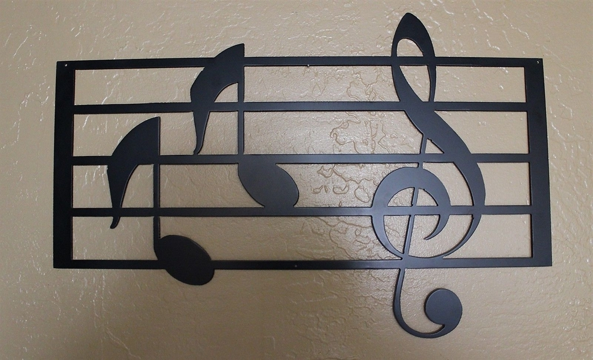 Music Metal Wall Art Throughout Most Recent Scale With Notes Metal Wall Art (View 10 of 15)