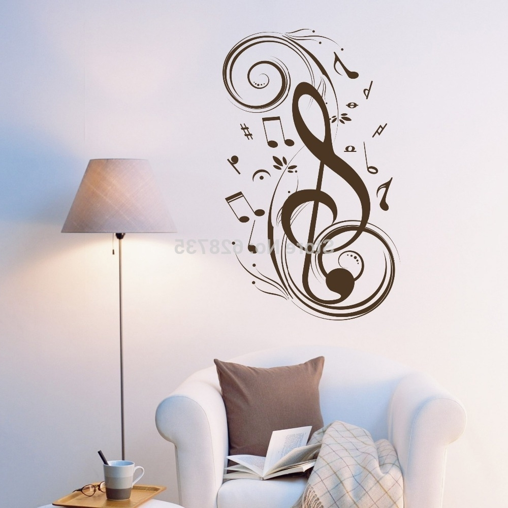 Music Note Wall Art Decor For Trendy Music Wall Art Canada In Groovy Class As Wells As Trumpet Melody (View 12 of 15)