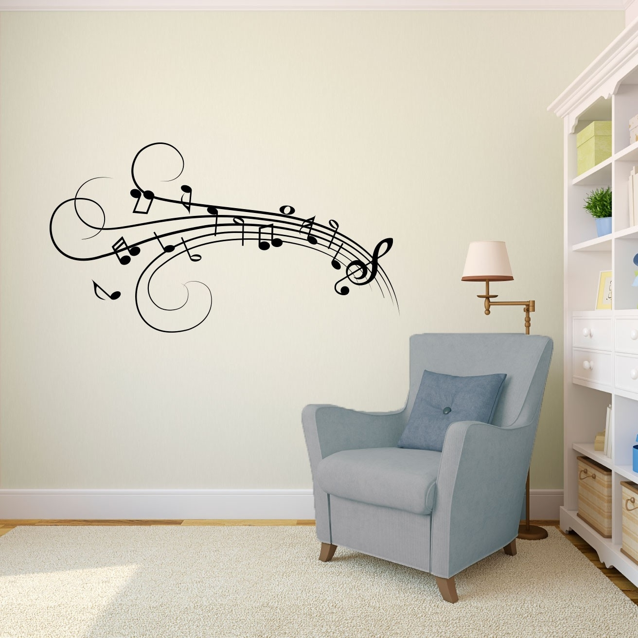 Music Note Wall Art Decor For Well Known Wall Art Decor Ideas: Great Stunning Music Note Wall Art Design (View 4 of 15)