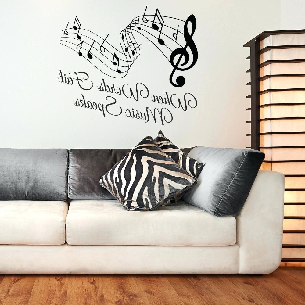 Music Notes Wall Decal – Gutesleben Intended For Current Music Notes Wall Art Decals (View 4 of 15)