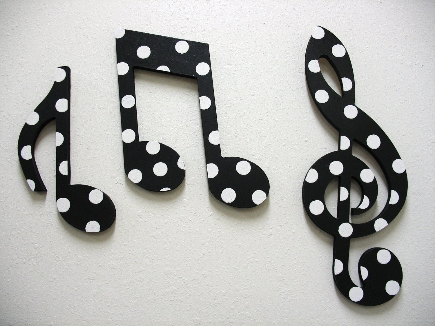 Music Notes Wall Decor Black (View 15 of 15)