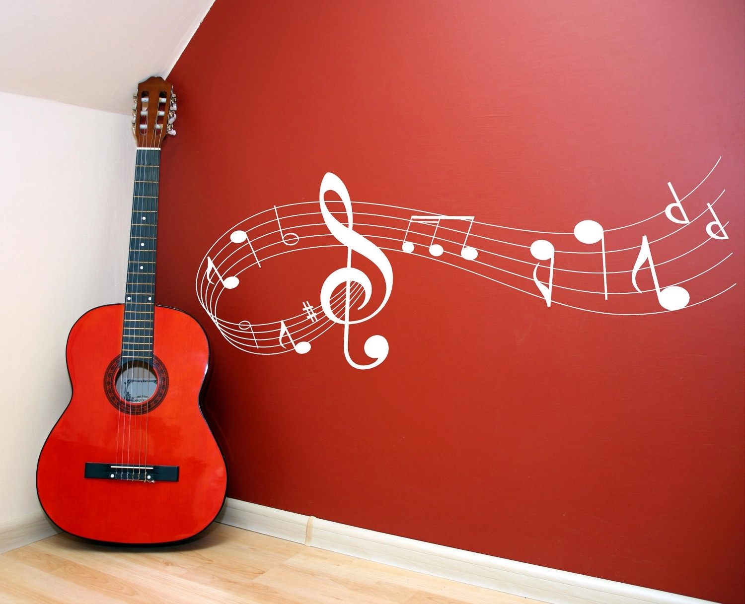 Musical Instrument Wall Art Throughout Most Recently Released Music Note Scale Vinyl Lettering Wall Words Quotes Graphics Decals (View 9 of 15)