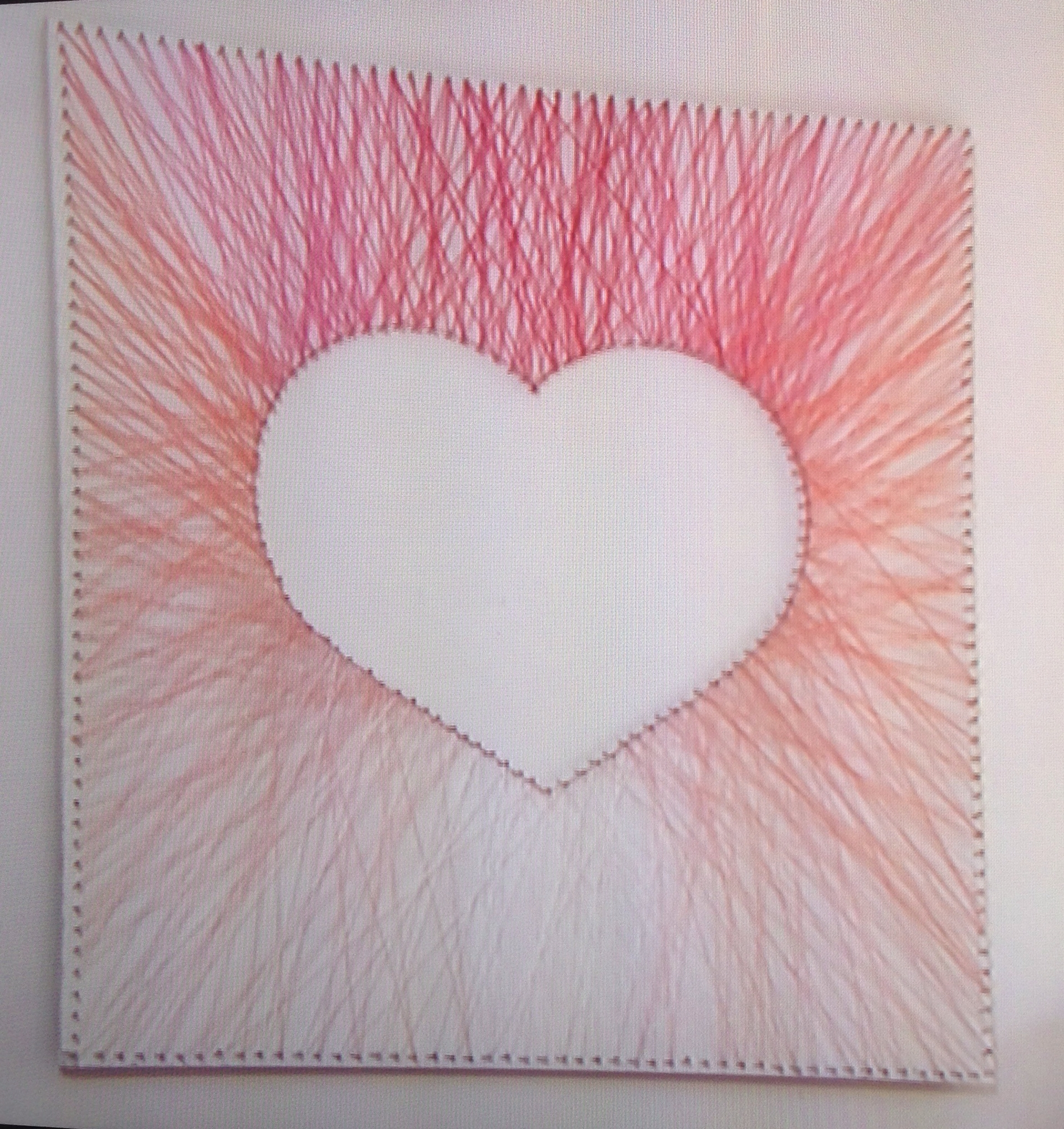 Nail And Yarn Wall Art Within Most Recent Pink Heart Wall Art Made From Nails And Wool! Kirstie's Fill Your (View 11 of 15)