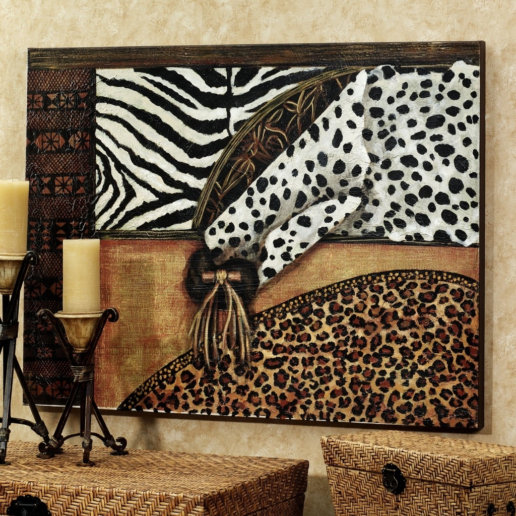 Nail Art Wall Art Designs: Marvelous Natural Animal Print Canvas For Latest Leopard Print Wall Art (View 6 of 15)
