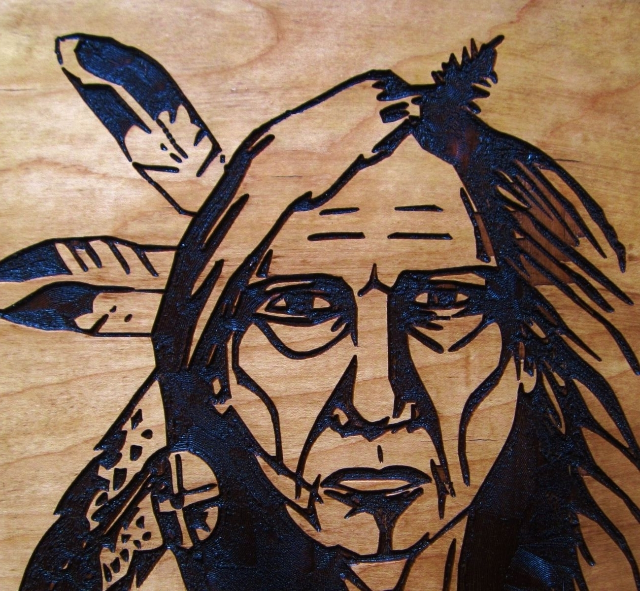Native American Wall Art With Regard To Favorite Hand Crafted Native American Indian Elder Woman Handmade Wood (View 8 of 15)