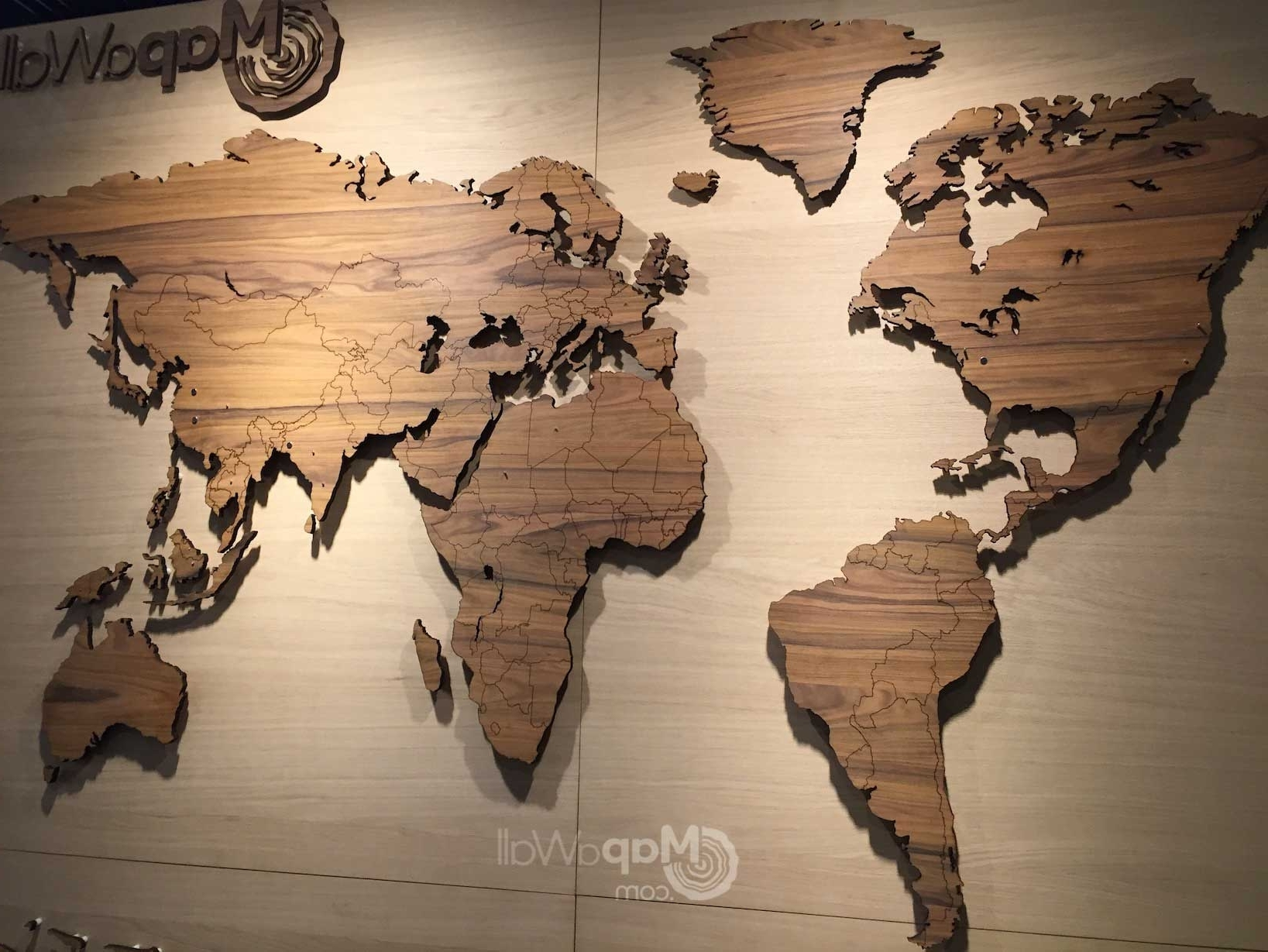 Natural Light, Woods And Walls Pertaining To 2018 Wooden World Map Wall Art (Gallery 15 of 15)