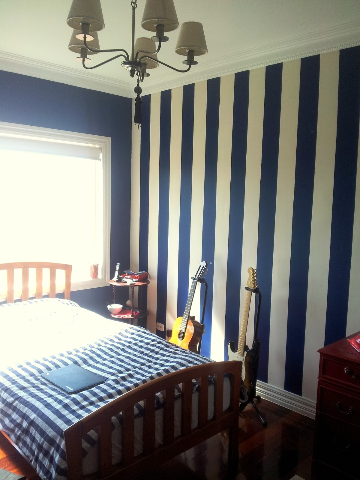 Navy Blue And Grey Bedroom Tags : Grey And Blue Bedroom Ideas Navy Intended For 2017 Blue And Cream Wall Art (View 11 of 15)