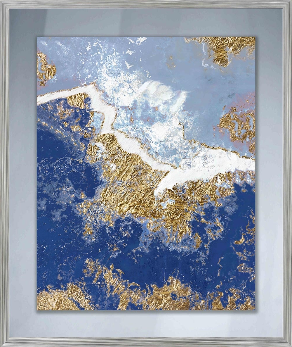 Navy Blue Wall Art Within Fashionable Approaching Waves Ii Glass Wall Art Framed – Ptmimages (Gallery 13 of 15)