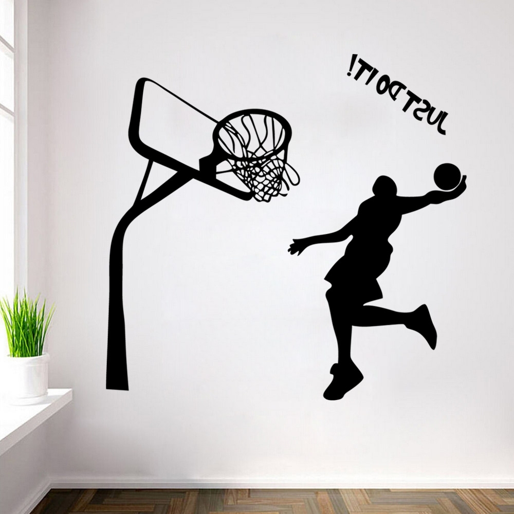 Nba Wall Murals Regarding Most Current Wall Art: Astounding Basketball Wall Art Basketball Wall Art Decor (View 9 of 15)