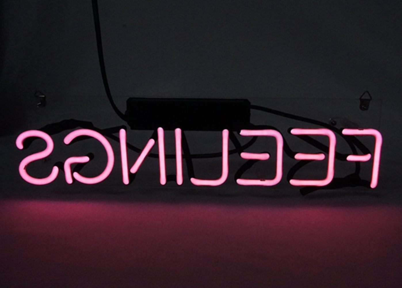Neon Wall Art Uk Throughout Best And Newest New Love Neon Sign 'feelings' Cool Led Lamp Light Decoration  (View 8 of 15)