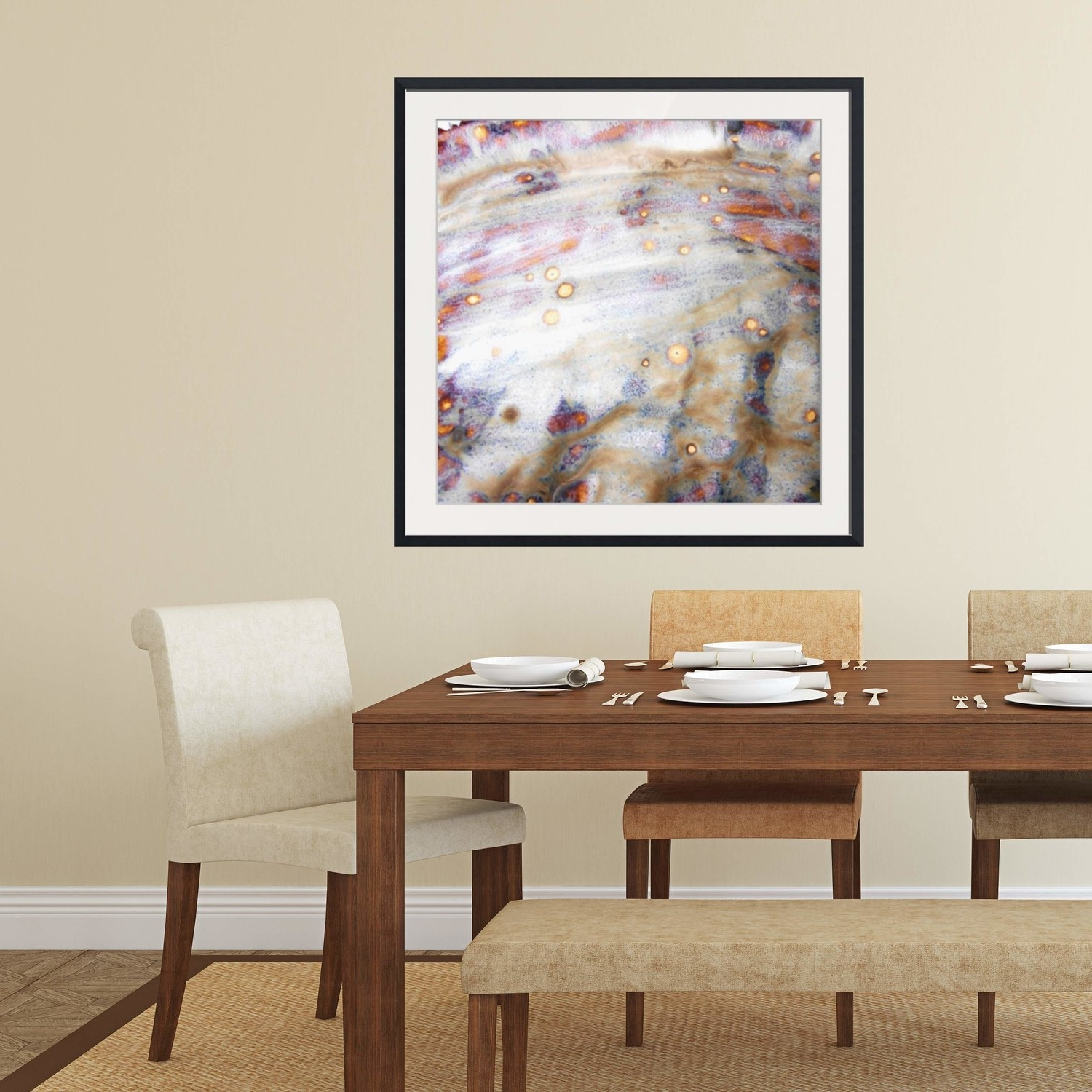 Neutral Abstract Wall Art Regarding Well Liked Abstract Framed Wall Art – Square #4 V (View 8 of 15)