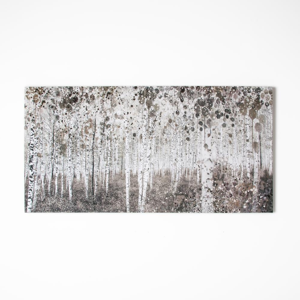 Neutral Wall Art Inside Newest Graham & Brown 47 In. X 24 In. Neutral Watercolor Woodgraham (Gallery 1 of 15)