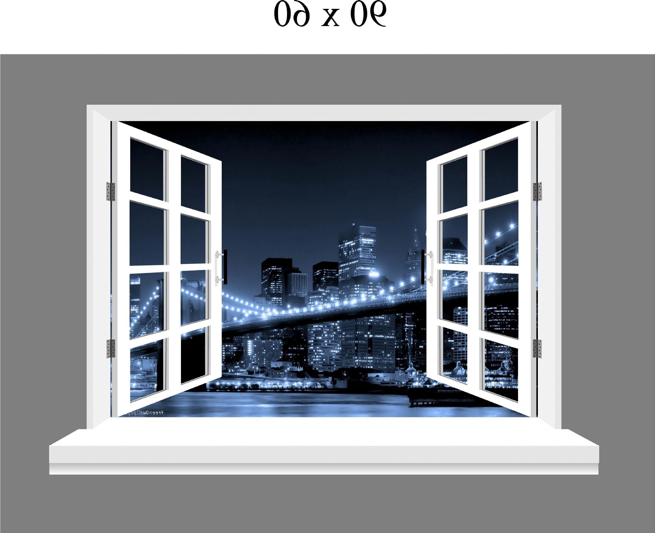 New York 3D Wall Art Pertaining To Favorite Wall Art Ideas Design : Window Three Dimensional Brooklyn Wall Art (View 8 of 15)