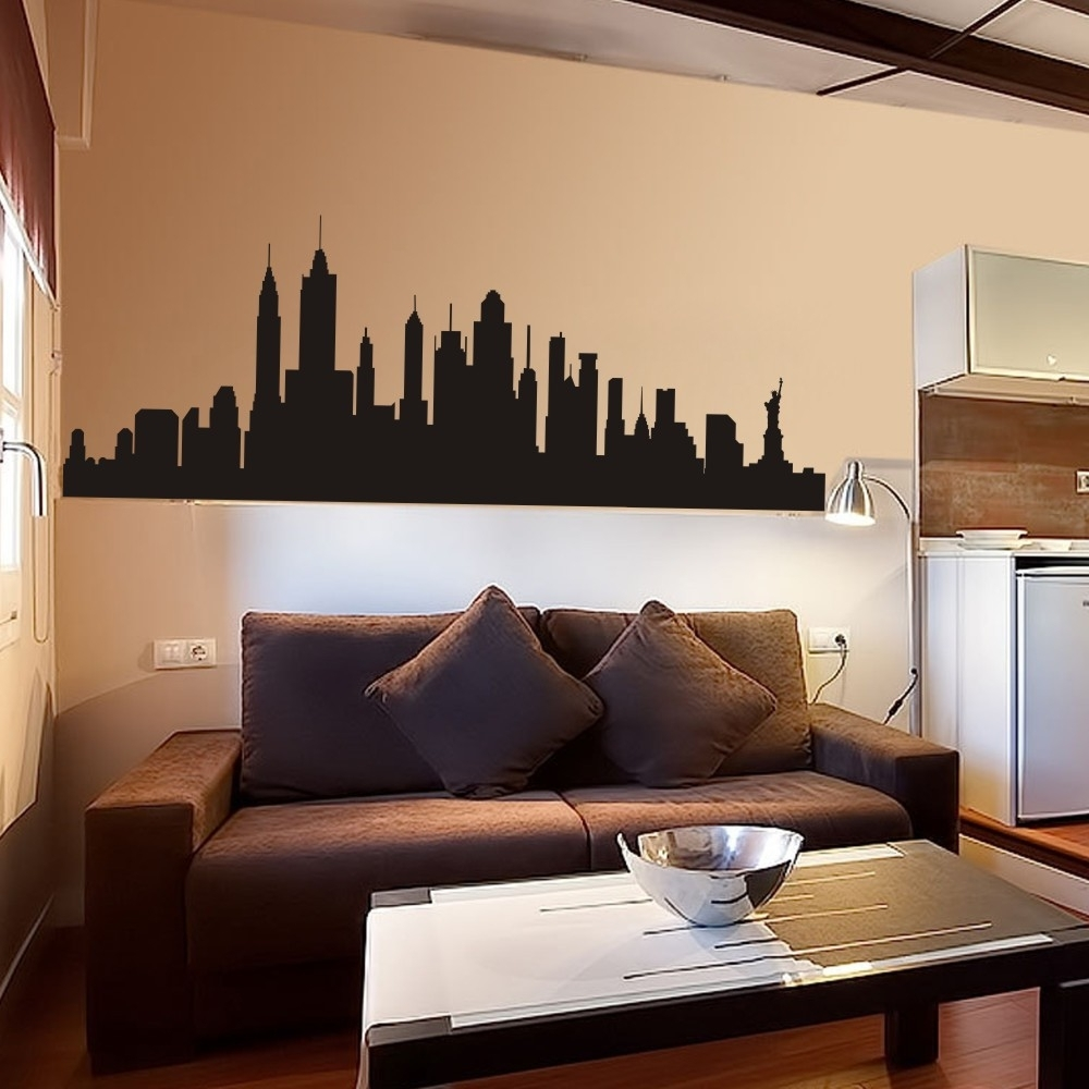 New York 3D Wall Art With Most Popular Wall Decal New York City Nyc Skyline Cityscape Travel Vacation (View 11 of 15)
