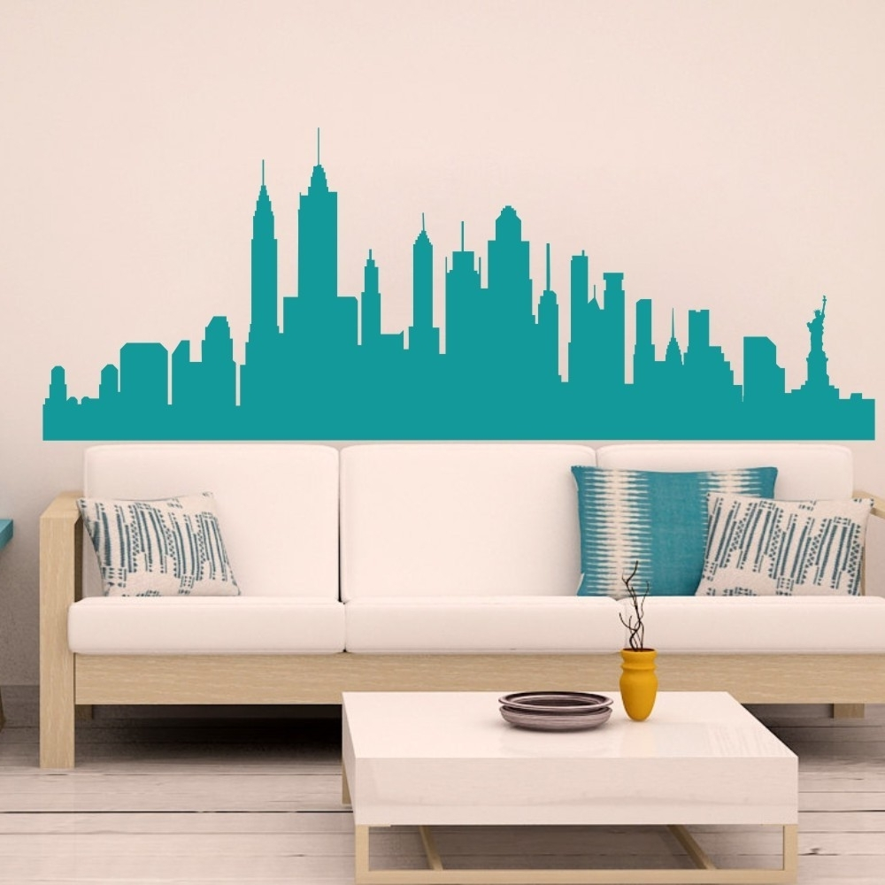 New York 3D Wall Art With Regard To Current Wall Decal New York City Nyc Skyline Cityscape Travel Vacation (View 12 of 15)