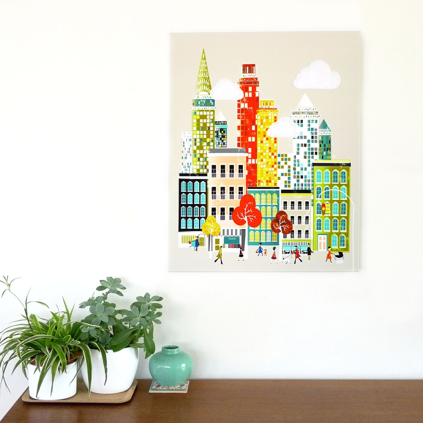New York Wall Art, Manhattan Skyline, Framed Canvas Wall Art In Trendy Cityscape Canvas Wall Art (View 12 of 15)