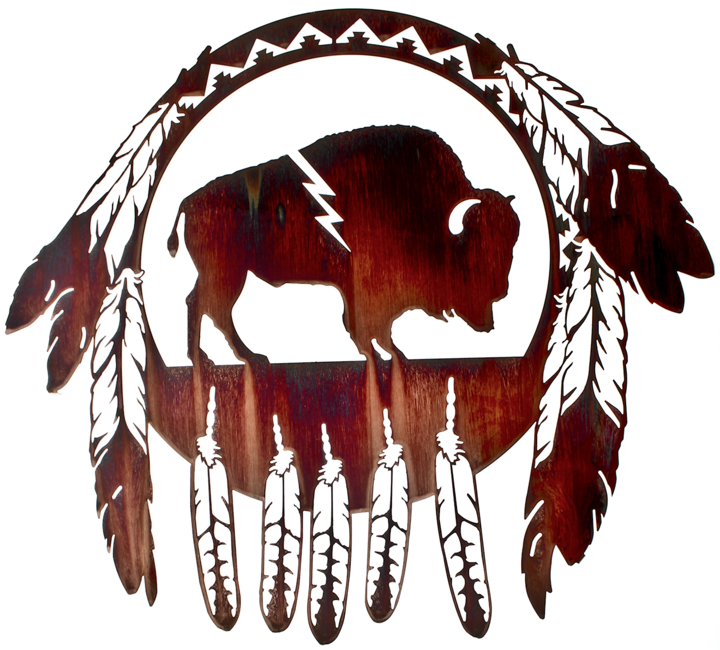 "Newest 24"" Buffalo Native American Wall Art Www (View 11 of 15)"