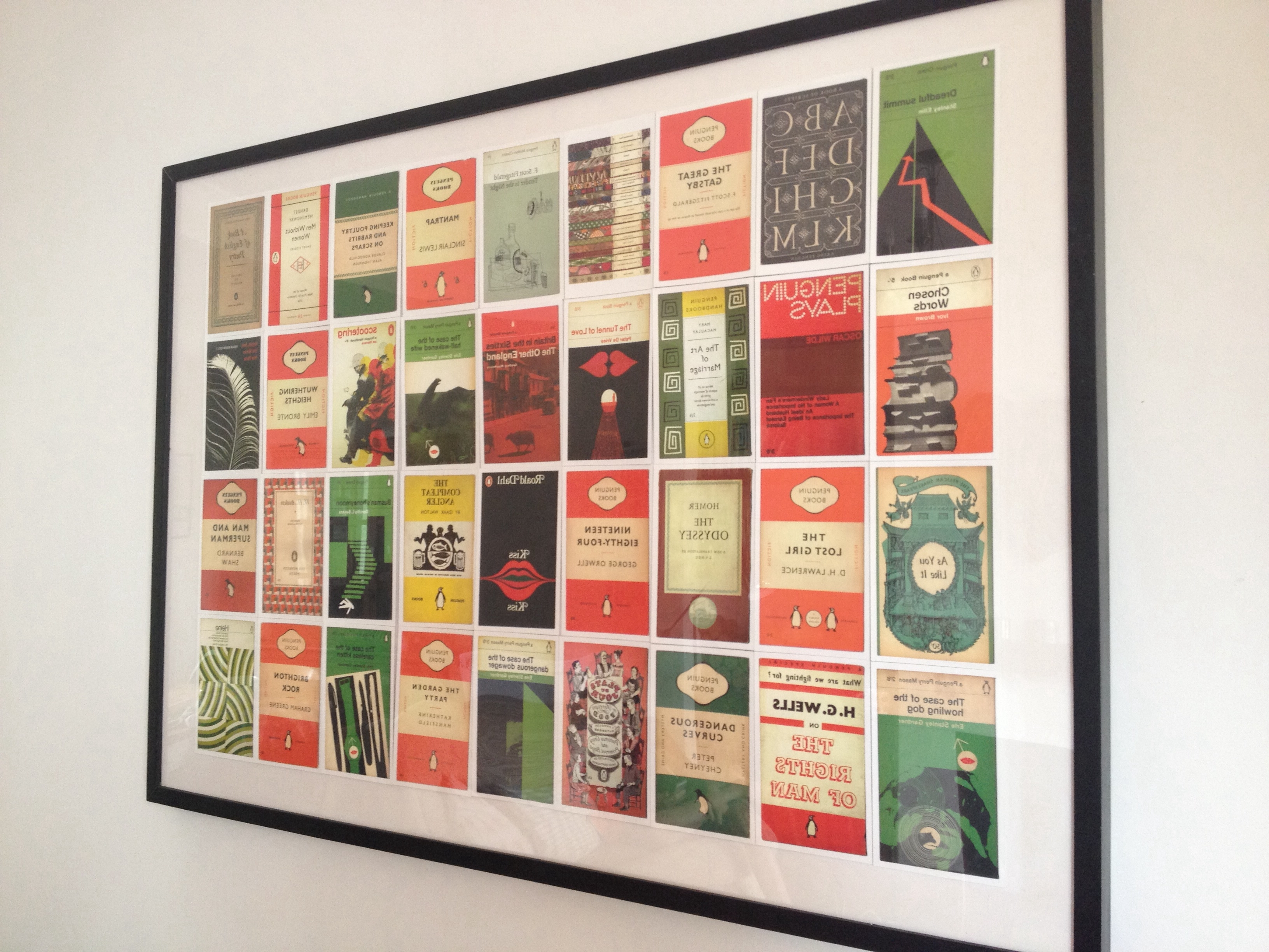 Newest A Selection Of Penguin Book Cover Postcards Framed And Displayed With Penguin Books Wall Art (Gallery 1 of 15)
