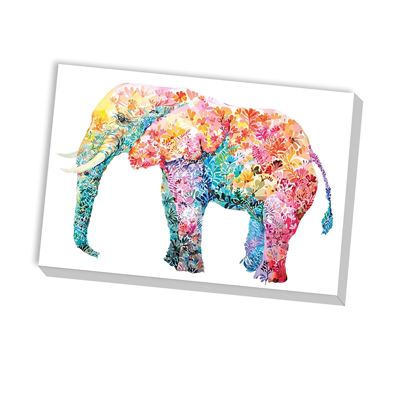 Newest Abstract Elephant Wall Art Throughout Amazon: Portfolio Canvas Decor Elephant Gummaria Varela (View 11 of 15)