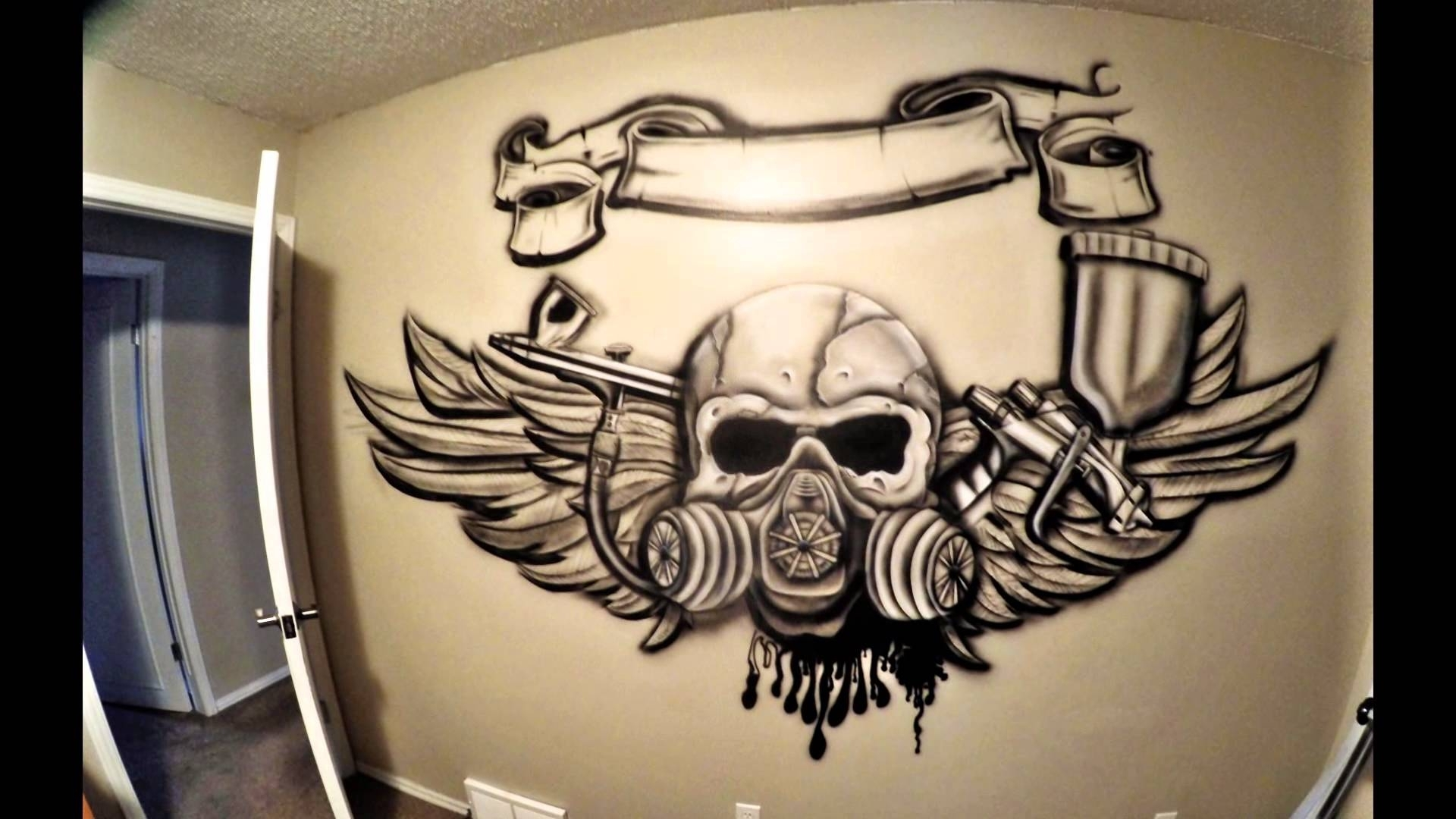 Newest Airbrush Wall Art With Regard To Airbrush My Bedroom Wall – Youtube (View 11 of 15)