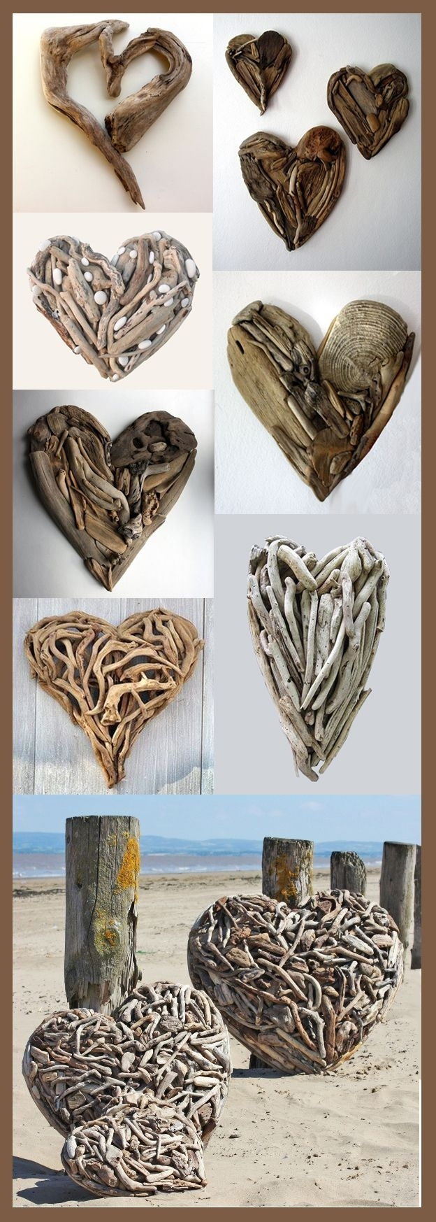 Newest Beach Driftwood Heart (View 7 of 15)