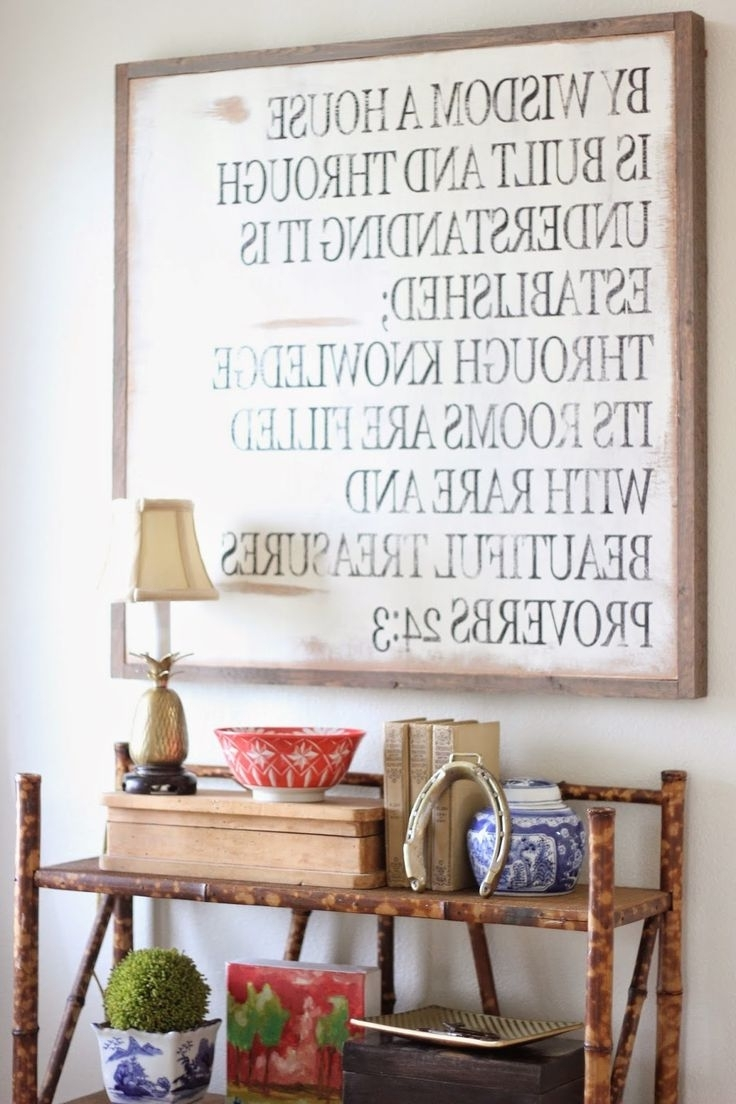 Newest Best 25+ Scripture Wall Art Ideas On Pinterest (Gallery 9 of 15)