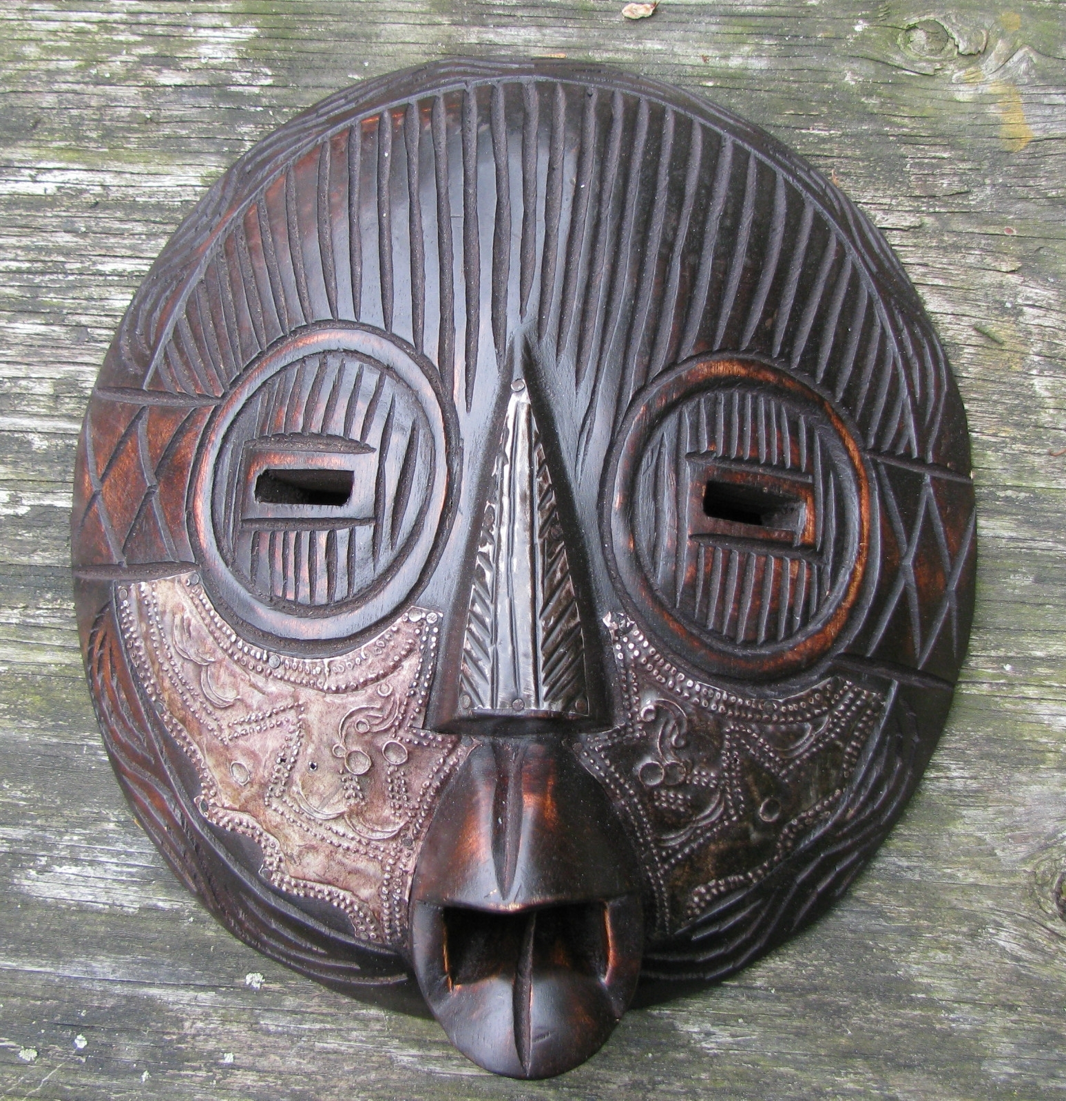 Newest Carved Wood African Mask, Ghana, West African (View 6 of 15)