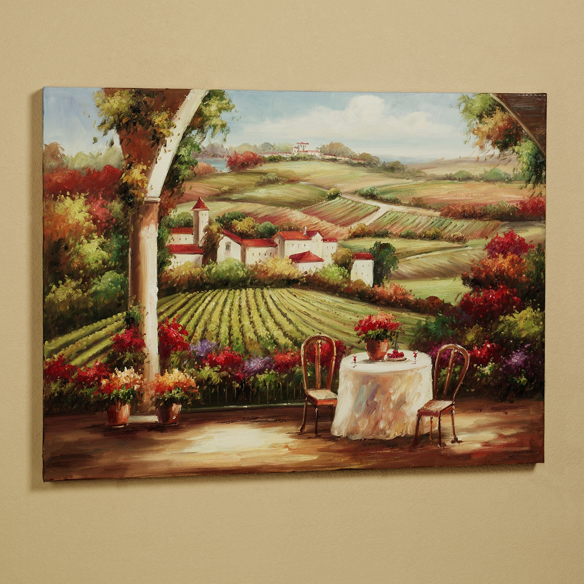 Newest Cheap Italian Wall Art In Wall Art Designs: Terrific Vineyard Wall Art Wine Decor Kitchen (View 10 of 15)