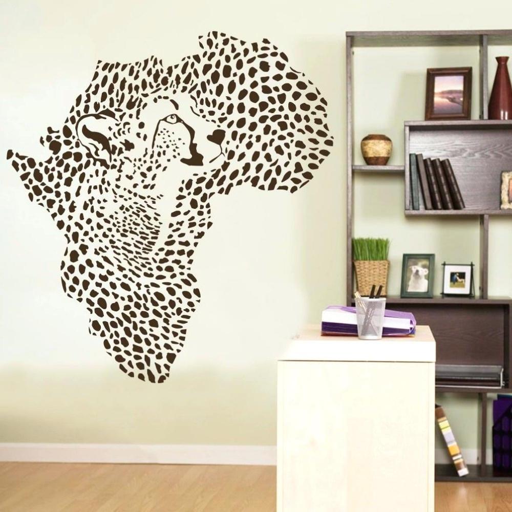 Newest Cheetah Print Decals For Walls Wall Ideas Leopard Wall Art Decal Regarding Leopard Print Wall Art (View 13 of 15)