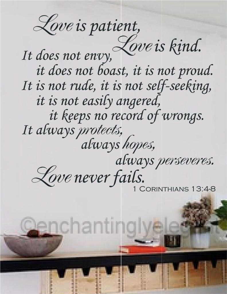 Newest Colors : Love Is Patient Love Is Kind Framed Wall Art Plus Vinyl In Love Is Patient Love Is Kind Wall Art (View 14 of 15)